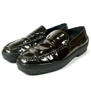 Tods Patent Leather Driving Loafers